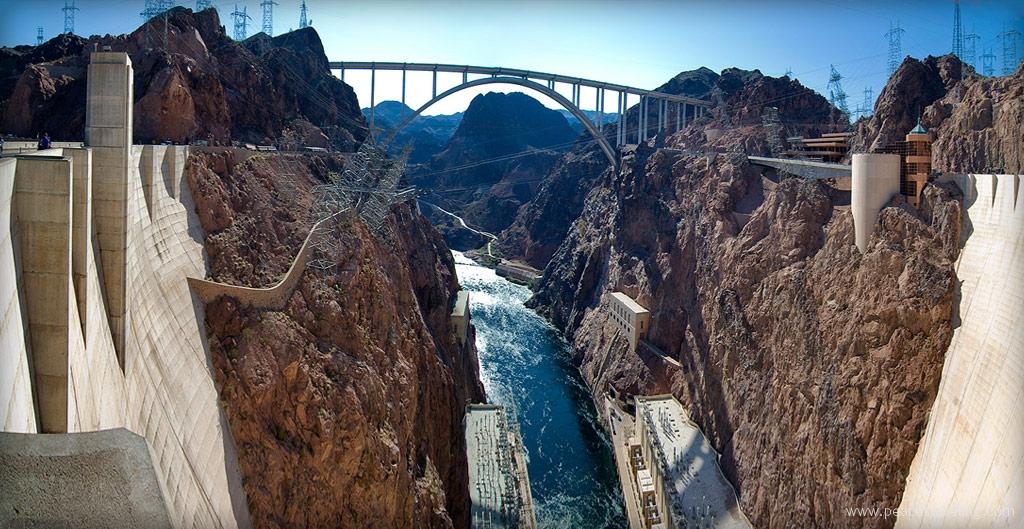 Hoover Dam and The Memorial Bridge